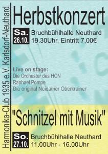 Plakat Herbstkonzert 2013