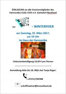 Einladung Winterfeier 2017